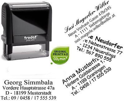 Taschenstempel TRODAT 9412 vorgegebener Vorlage STEMPEL 4//5-zeiliger Text n