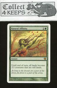 Green Ninth 9th Edition Mtg Magic Rare 4x x4 4 PLAYED Natural Affinity
