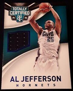 2014-totally-certified-AL-JEFFERSON-jersey-patch-d-insert-SP-1-Hornets