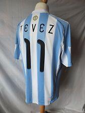 Utilizzato in in buonissima condizione-ORIGINALE ARGENTINA 2010 WORD CUP MAGLIETTA TEVEZ 11-Da Uomo XL
