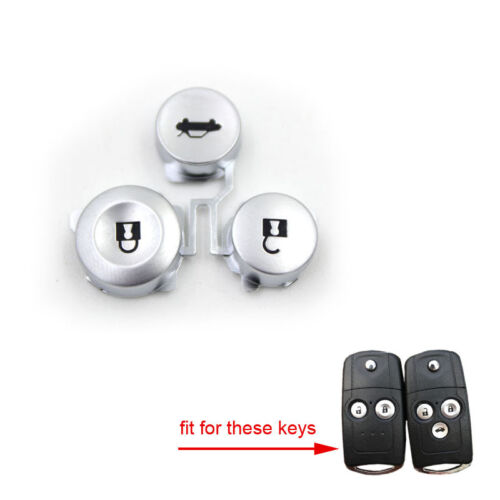 2pcs Remote Key Pad FOB 2/&3 Buttons Pad Kit Replacement fit for Honda Accord CRV