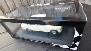 Raras-Blanco-Crema-1-18-Alfa-Romeo-Giulia-1965-Super-Minichamps-Coche-De-Juguete-Vintage