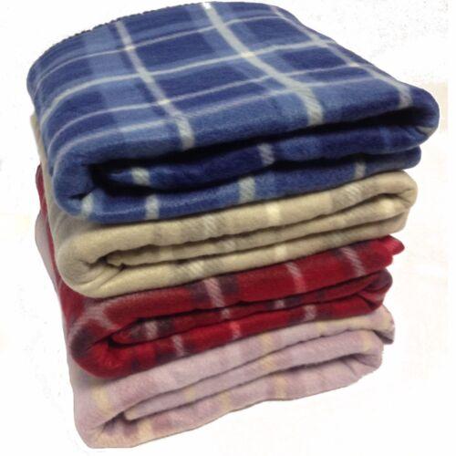 Soft Checked Tartan Fleece Throw Blanket 120 cm x 150 cm car bed decorative warm