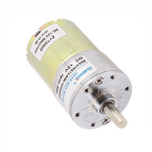 1PCS 12V DC 300 RPM High Torque Gear-Box Electric Motor Hot NEW