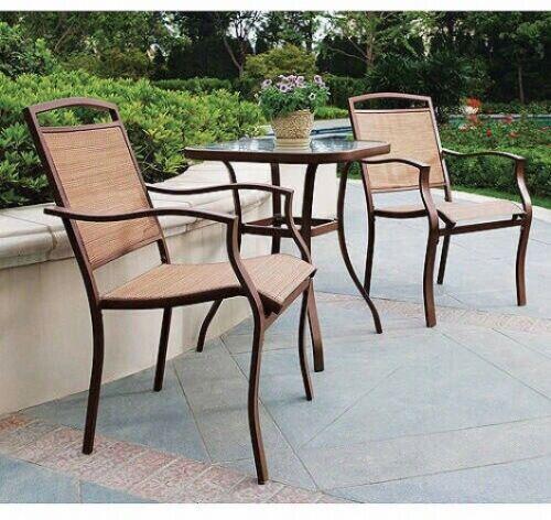 Carlota Furniture Outdoor Bistro Set 3