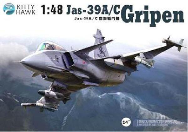 Avion multi-rôle Suédois  JAS-39 A C  GRIPEN  - KIT KITTY-HAWK 1 48 N° 80117  achats de mode en ligne
