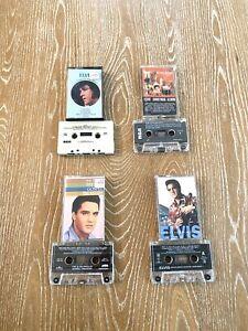 Elvis Presley Lot Of 4 Cassette Tapes Christmas, Gospel, Legendary Songs