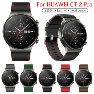 For Huawei Watch GT 2 Pro 46mm Luxury Leather Wristband Watch Strap Wrist Band