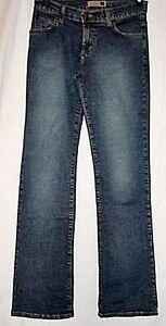 Forever-21-Jeans-Blue-Denim-Stretch-Boot-Leg-Junior-size-7-Juniors-NWT-Vintage