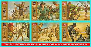 Airfix-1-32-Scale-Brown-Box-Set-of-6-Posters-Japanese-Australian-British-German