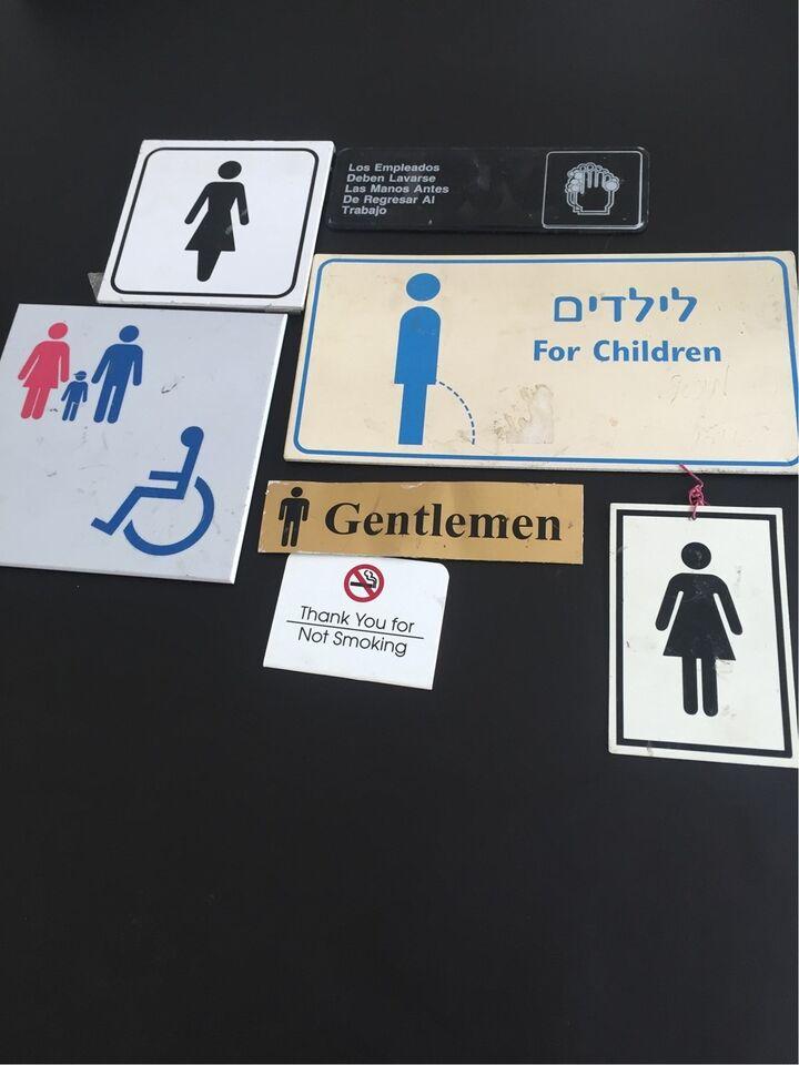 Skilte, Toilet / hotel