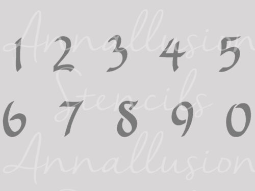 Numbers vintage french shabby chic stencil 190 micron mylar A3 A4 A5