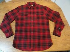 FREE SHIPPING. Men's Red JACHS Flannel Lumberjack Shirt. Size Medium VGC
