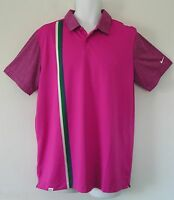 Nwtnike Golf Dri-fit Sport Graphic Polo Shirt Striped Modern Classic Topmens M