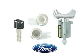 Ford 1992-95 F150 F250 Pick Up Ignition and 2 Door Locks with 2 Keys Black