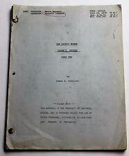 The Bionic Woman * 1976 TV Show Script * Lindsay Wagner, first female cyborg