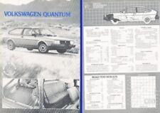 1982 Vw Volkswagen Quantum Original Car Review Report Print Article J318