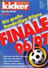 Magazin kicker Sonderheft - Bundesliga Finale Saison 1996/97-alle Klubs...Bayern