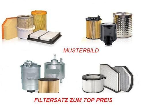 Filterset 3 piezas filtro aceite filtro de polen bmw 5er e60 e61-523i filtro de aire