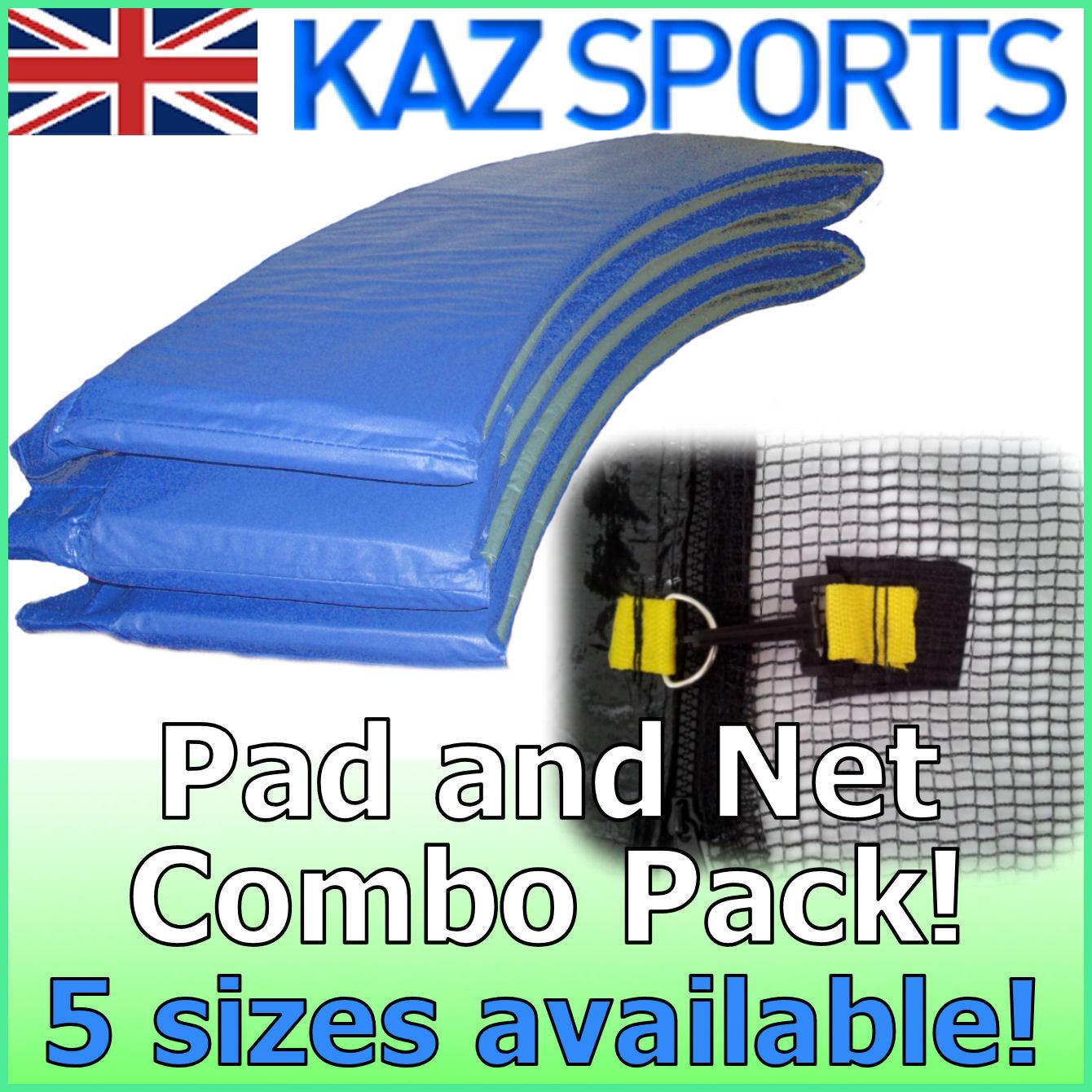 RemplaceHommes t trampoline filet de de de sécurité & pvc rembourrage / pad / surround combo pack! 88a482