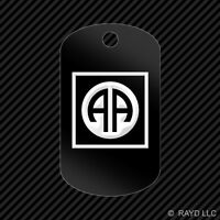 82nd Airborne Division Keychain Gi Dog Tag Engraved Many Colors