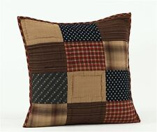 "Patriotic Patch 16"" Quilted Decorative Throw Pillow"