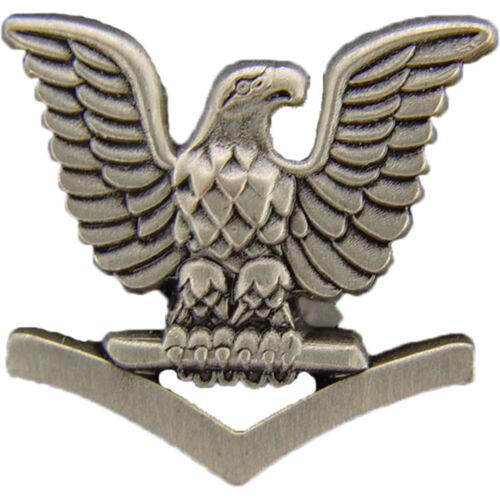 """U.S Petty Officer 3rd Lapel Pin Rank  7.8/"""" Left Navy"""