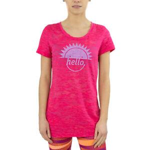 8df90b9c Details about Womens Reebok RH Burnout Tee 2 Sports Pink Training Workout  T-Shirt