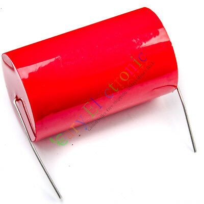 20pc MKP 400V 1uf Red long copper leads Axial Electrolytic Capacitor audio amp
