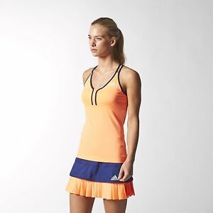 Adidas-Performance-Premium-Climalite-Strappy-Tennis-Tank-Vest-Orange