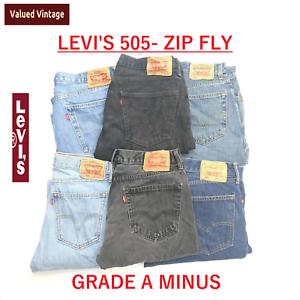 Vintage-Levis-Levi-505-Herren-Klasse-A-Minus-Jeans-Zip-Fly-w30-w32-w34-w36-w38