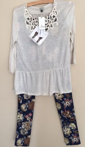 Pantaloni Hippie Top Frixo Outfit Mismash 8433702226621 Pants Small Grania in Floral pizzo Boho axCq6T