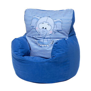 Awesome Details About Blue Ellie Childrens Character Filled Beanbag Kids Bean Bag Chair Bedroom Pabps2019 Chair Design Images Pabps2019Com