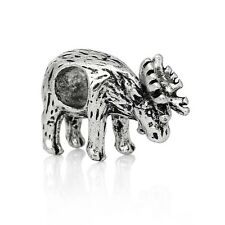 Antique Silver Christmas Reindeer Spacer Charm Bead For European Charm Bracelets
