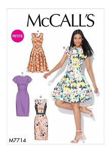 365633fc11 McCalls Easy SEWING PATTERN M7714 Misses Miss Petite Dresses 6-14 Or ...