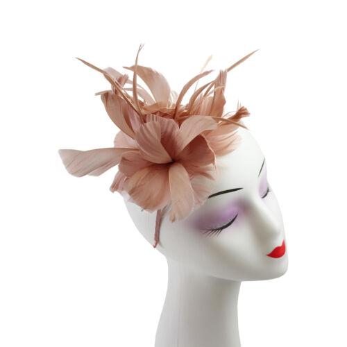 Flor Completa Cabello De Plumas Sombrero Fascinator de la Fiesta Boda Royal Ascot Diadema Clip