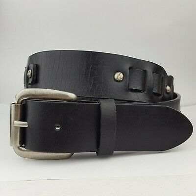 Casual Leather Jean Belt with hammered studs