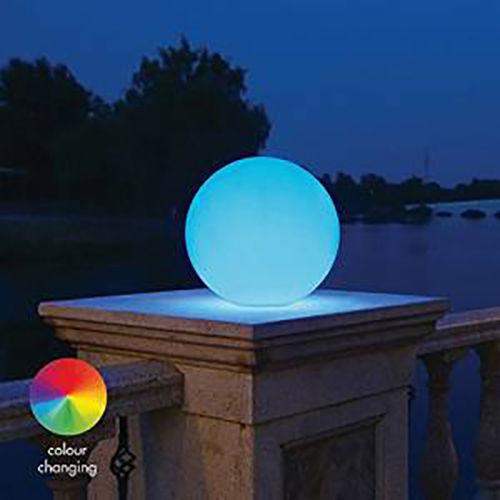 Led multi-couleur sphère weather proof jardin pelouse décoration nouveauté rgb lampe