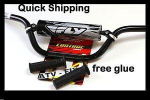 yamaha 700 raptor handlebars fly racing aluminum bar hand grips grip glue black