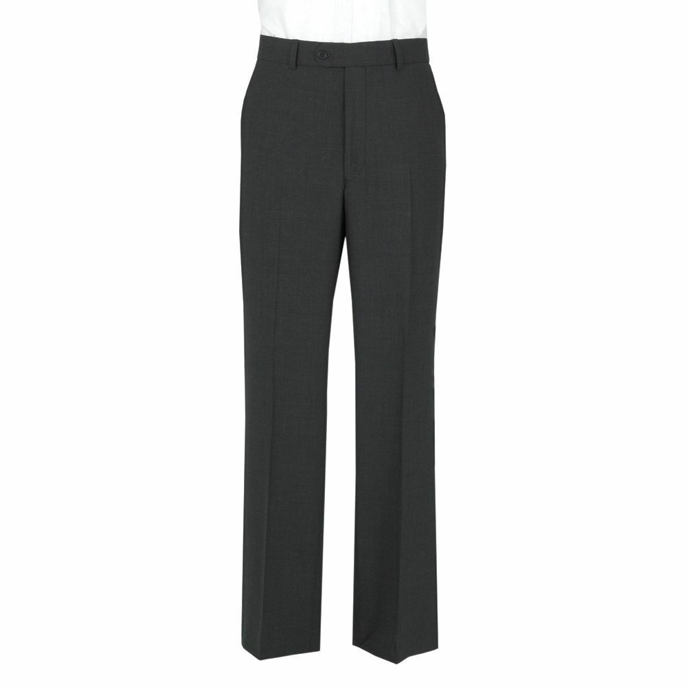 Men's Extra Tall Poly Viscose formal trousers Charcoal,Waist 30-50,L 33 34 35 36