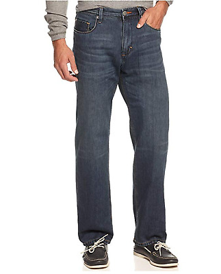 "TOMMY BAHAMA /""Coastal Island/"" Standard Fit Straight Leg Jeans Light Blue NEW NWT"
