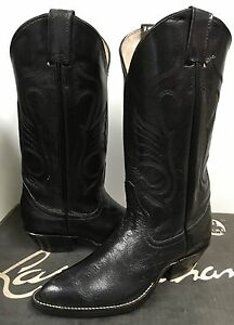 24dc12878c3 Larry Mahan Women's Western Boots Black Leather with 9651 size US 5 ...