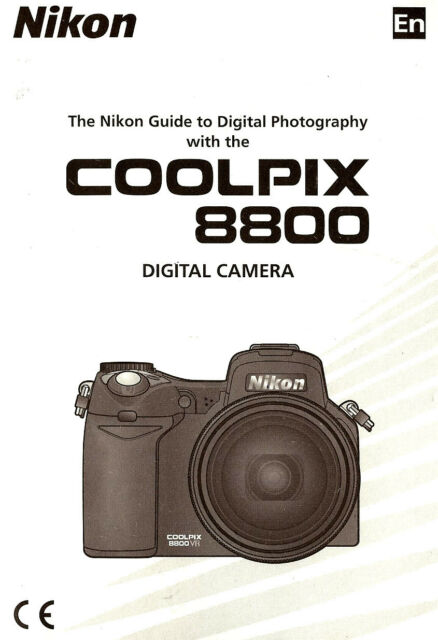 Nikon Coolpix 8800 Digital Camera Owners Instruction