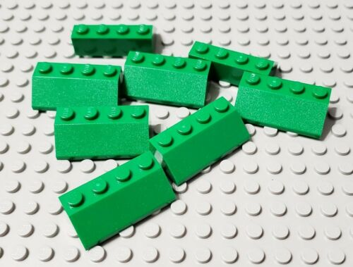 LEGO New Lot of 8 Green 2x4 Roof Slope Pieces