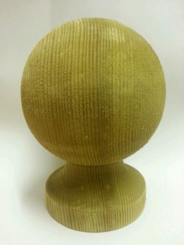 Treated Wooden Ball Finial for 4ins posts