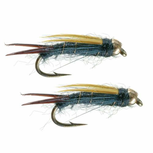 Umpqua Hart/'s Dark Lord Black Flies 16-2 Pack