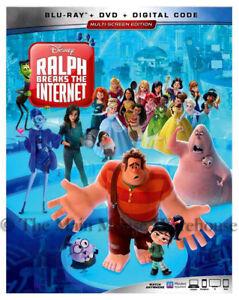 Authentic-Disney-Wreck-It-Ralph-2-Breaks-The-Internet-Blu-ray-DVD-Digital-Copy