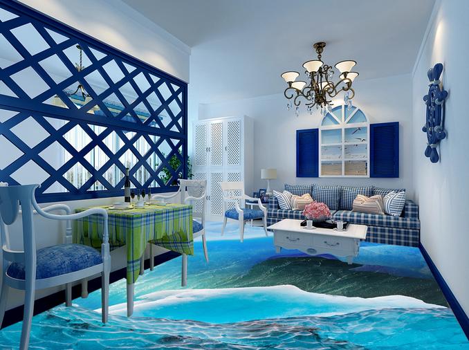 3D Glacier Water 5 Floor WallPaper Murals Wall Print Decal AJ WALLPAPER Summer