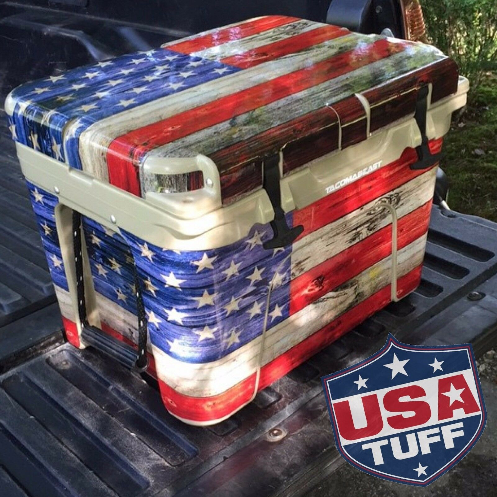 USATuff Wrap Decal Full Kit YETI fits Custom YETI Kit Tundra 65qt Cooler Warrior USA 77422b