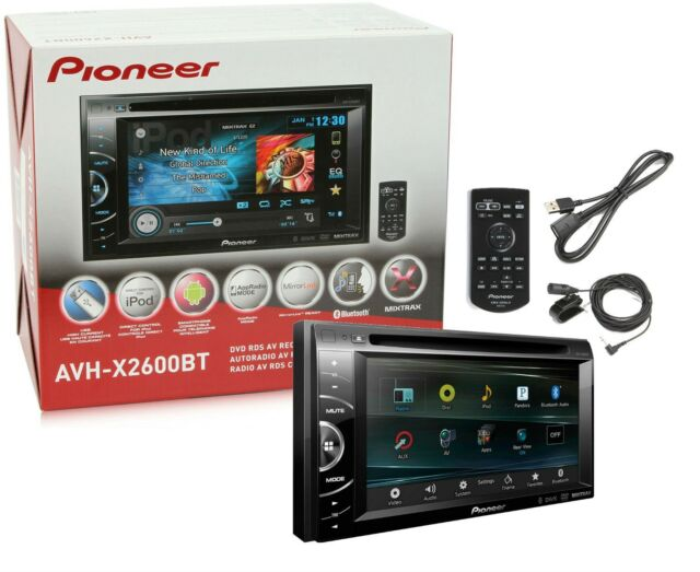 "Pioneer AVH-X2600BT Double Din DVD CD MP3 Player 6.1"" Mirrorlink New AVHX2600BT"